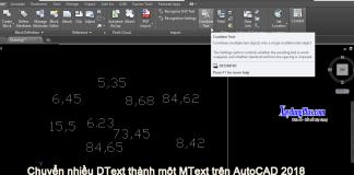 Chuyển nhiều DText thành một MText trên AutoCAD 2018