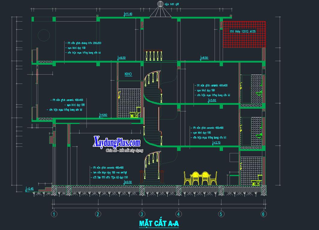 Hồ sơ mẫu nhà phố 3 tầng 4x13m Hồ sơ mẫu nhà phố 3 tầng