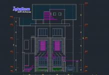 Mẫu biệt thự 4 tầng 15x12m