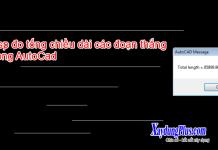 Lisp đo tổng chiều dài các đoạn thẳng trong AutoCAD