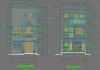 Hồ sơ mẫu bản vẽ nhà phố 3 tầng 6x20m