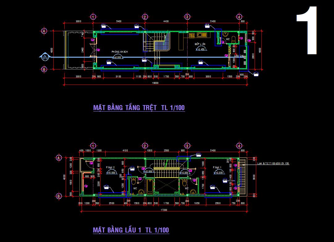 Hồ sơ mẫu nhà phố 4 tầng 4x19m Hồ sơ mẫu nhà phố 4 tầng