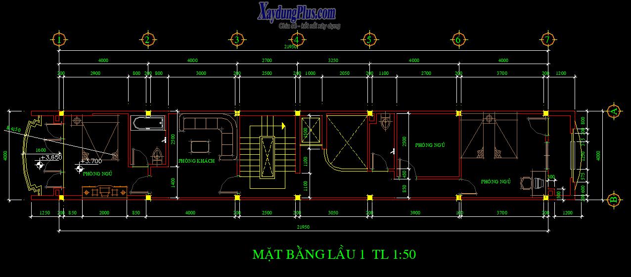 Hồ sơ mẫu nhà phố 5 tầng 4x22m Hồ sơ mẫu nhà phố 5 tầng