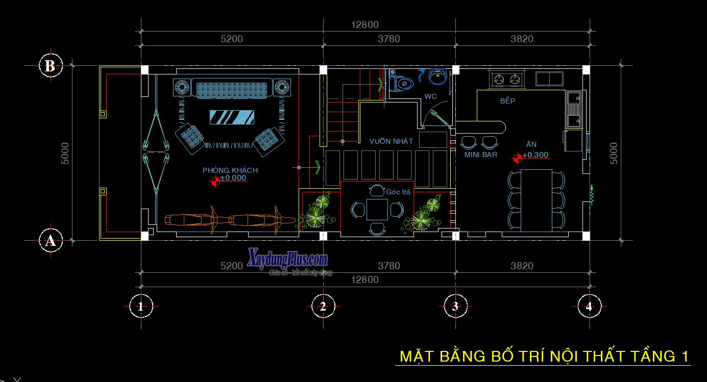 Hồ sơ mẫu nhà phố 5x14m 3 tầng đẹp Hồ sơ mẫu nhà phố 5x14m 3 tầng đẹp1