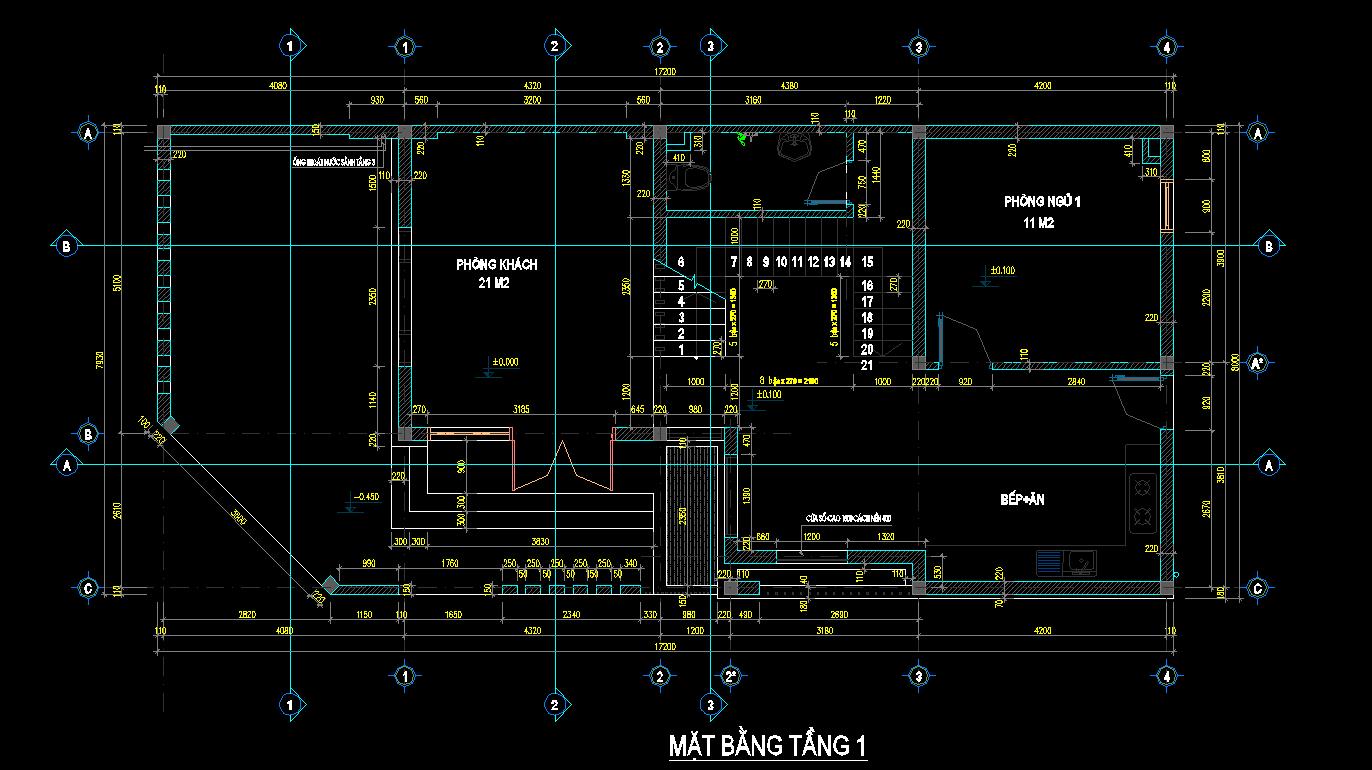 Hồ sơ biết thự phố 3 tầng 8x17m Hồ sơ biết thự phố 3 tầng