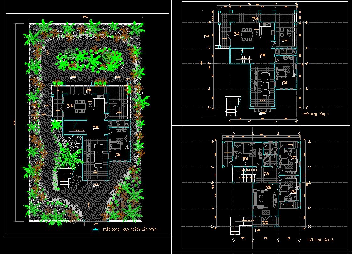 Hồ sơ mẫu nhà dân 3 tầng 18x14m Hồ sơ mẫu nhà dân 3 tầng