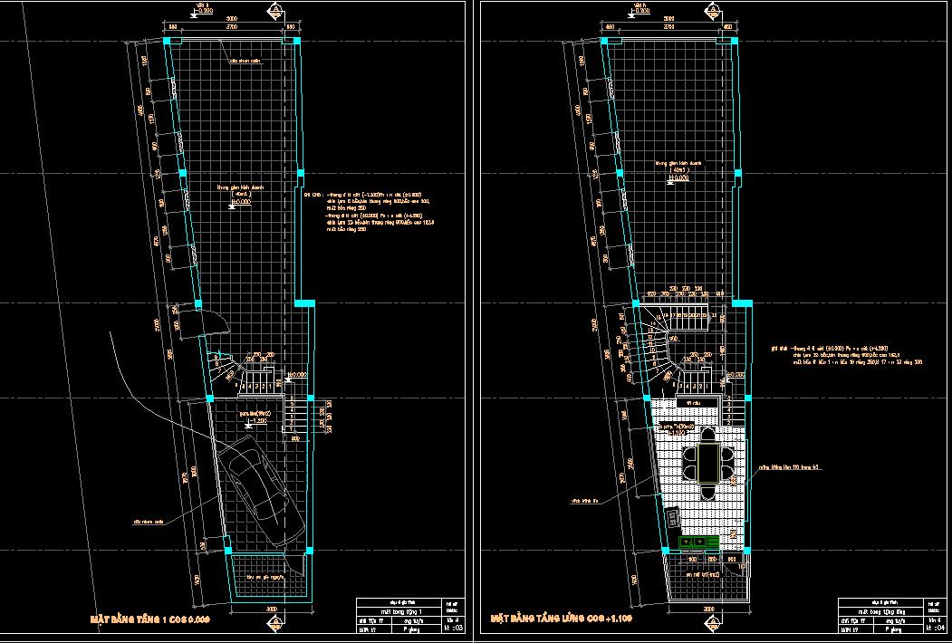 Hồ sơ mẫu nhà phố 3 tầng 5x14m full KT Hồ sơ mẫu nhà phố 3 tầng 5x14m full KT1