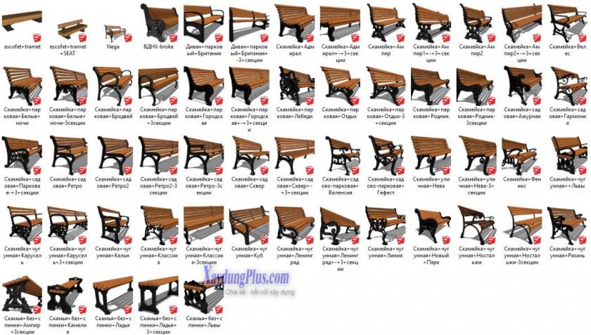 Thư viện ghế trong Sketchup Thư viện bàn ghế trong Sketchup1