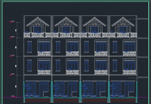 Mẫu bản vẽ nhà liền kề 5x16m