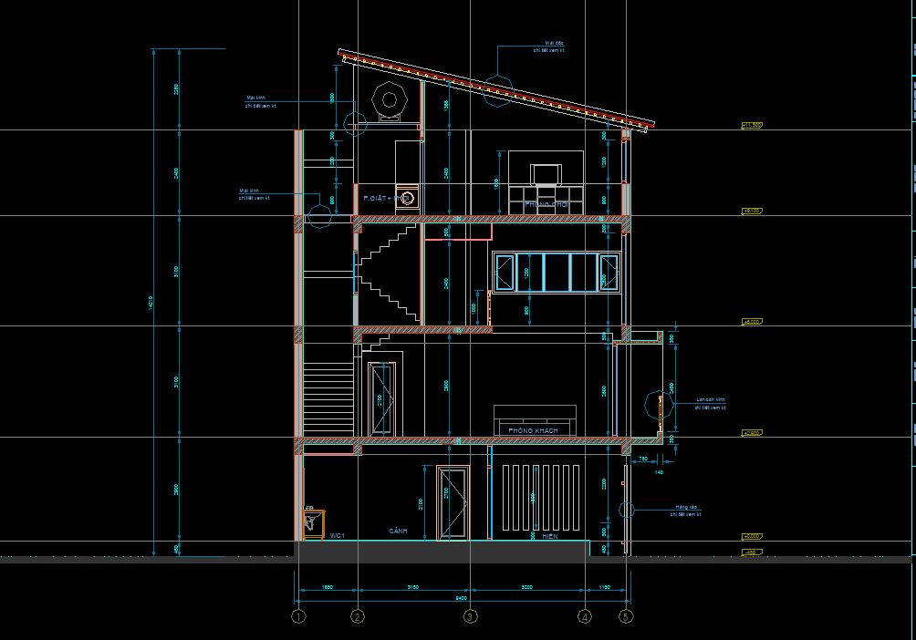 Mẫu nhà phố 4 tầng 9x10m Mẫu nhà phố 4 tầng