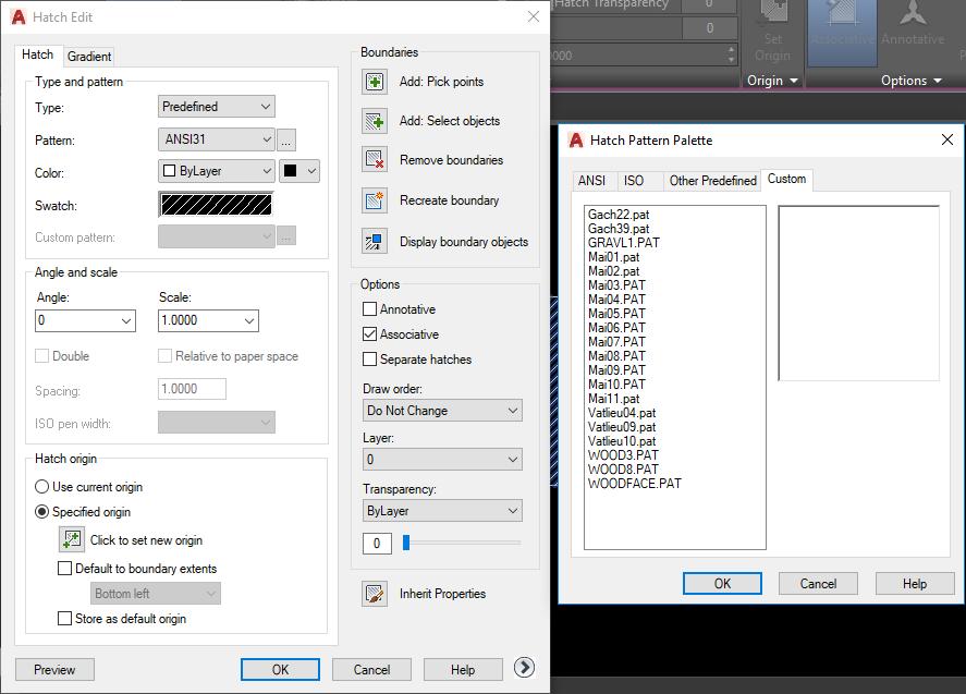 Cách thêm mẫu hatch vào CAD siêu nhanh