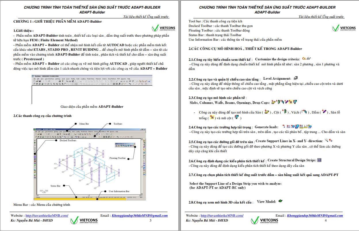 Tính cấu kiện UST bằng ADAPT Tính cấu kiện UST bằng ADAPT1