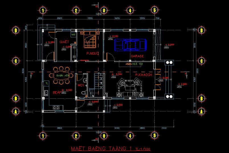 Bản vẽ thiết kế mẫu biệt thự 2 tầng Bản vẽ thiết kế mẫu biệt thự 2 tầng1