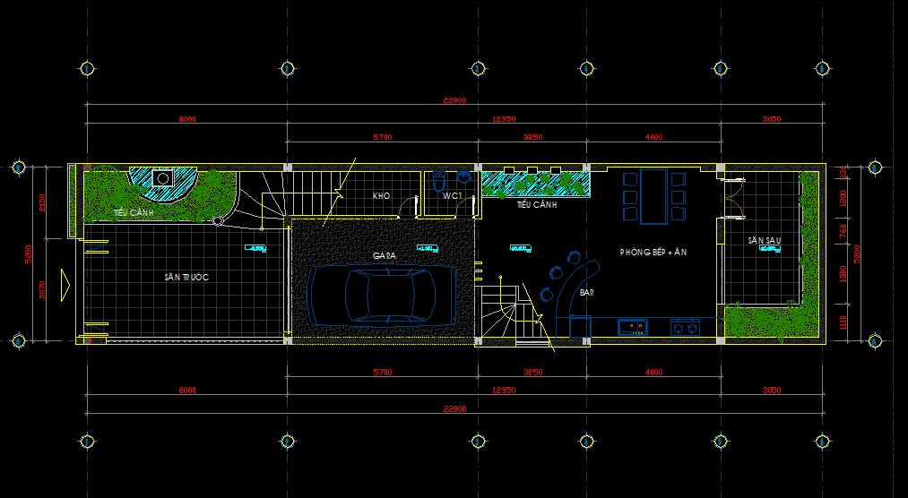 Hồ sơ nhà phố 4 tầng 5x22m Hồ sơ nhà phố 4 tầng