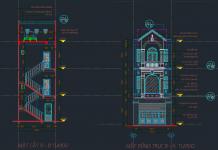 Hồ sơ thiết kế nhà phố 4 tầng Full