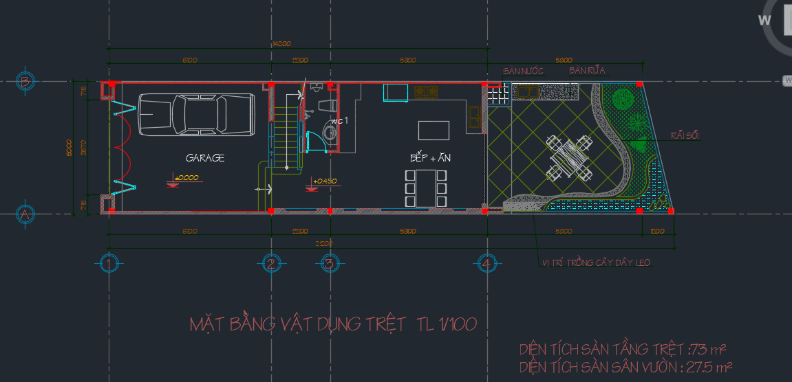 Hồ sơ thiết kế nhà phố 4 tầng 21x5m Full Hồ sơ thiết kế nhà phố 4 tầng Full1