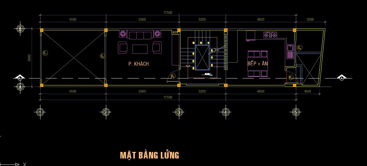 Mẫu nhà phố 3 tầng 4x18m