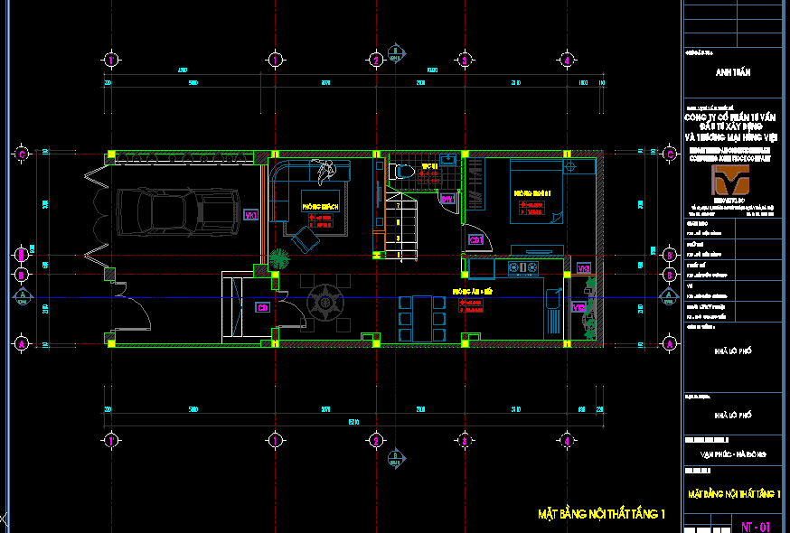 Bản vẽ mẫu nhà phố 6x15m Bản vẽ mẫu nhà phố