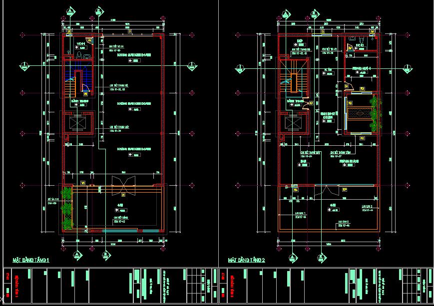 Bản vẽ thiết kế nhà phố 10x19m Bản vẽ thiết kế nhà phố