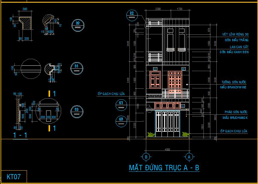 Nhà phố 4x16m 3 tầng đẹp