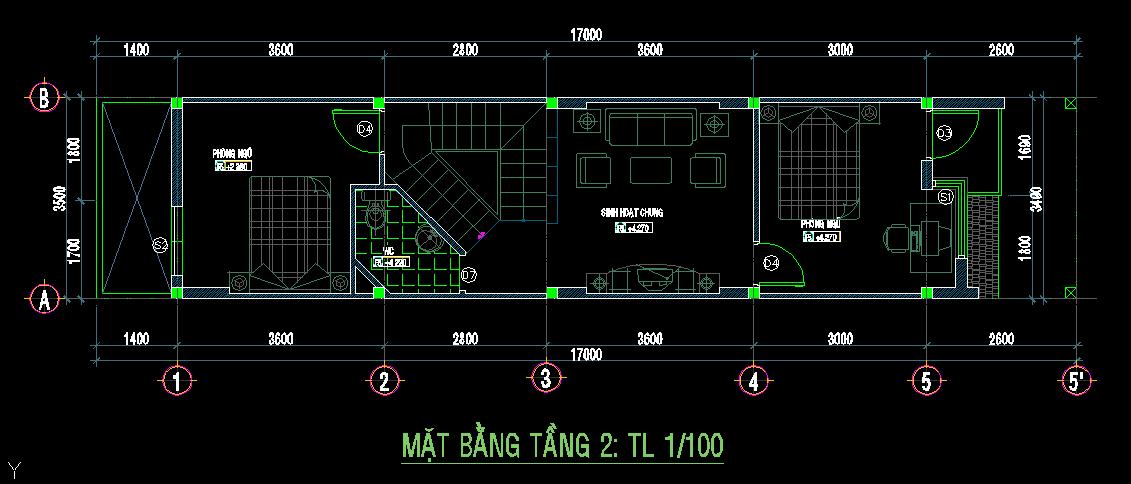 Mẫu nhà phố 3 tầng 60m2 Mau nhà pho 3 tang 60