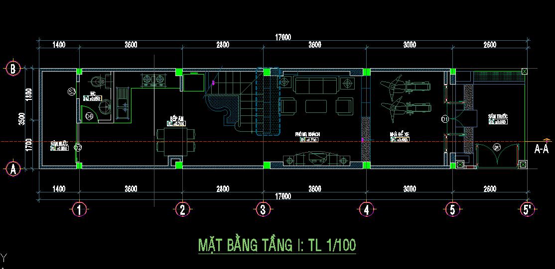 Mẫu nhà phố 3 tầng 60m2 Mau nhà pho 3 tang