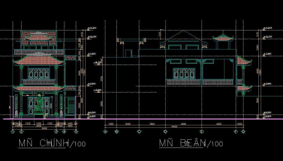 Mẫu nhà phố cổ điển full