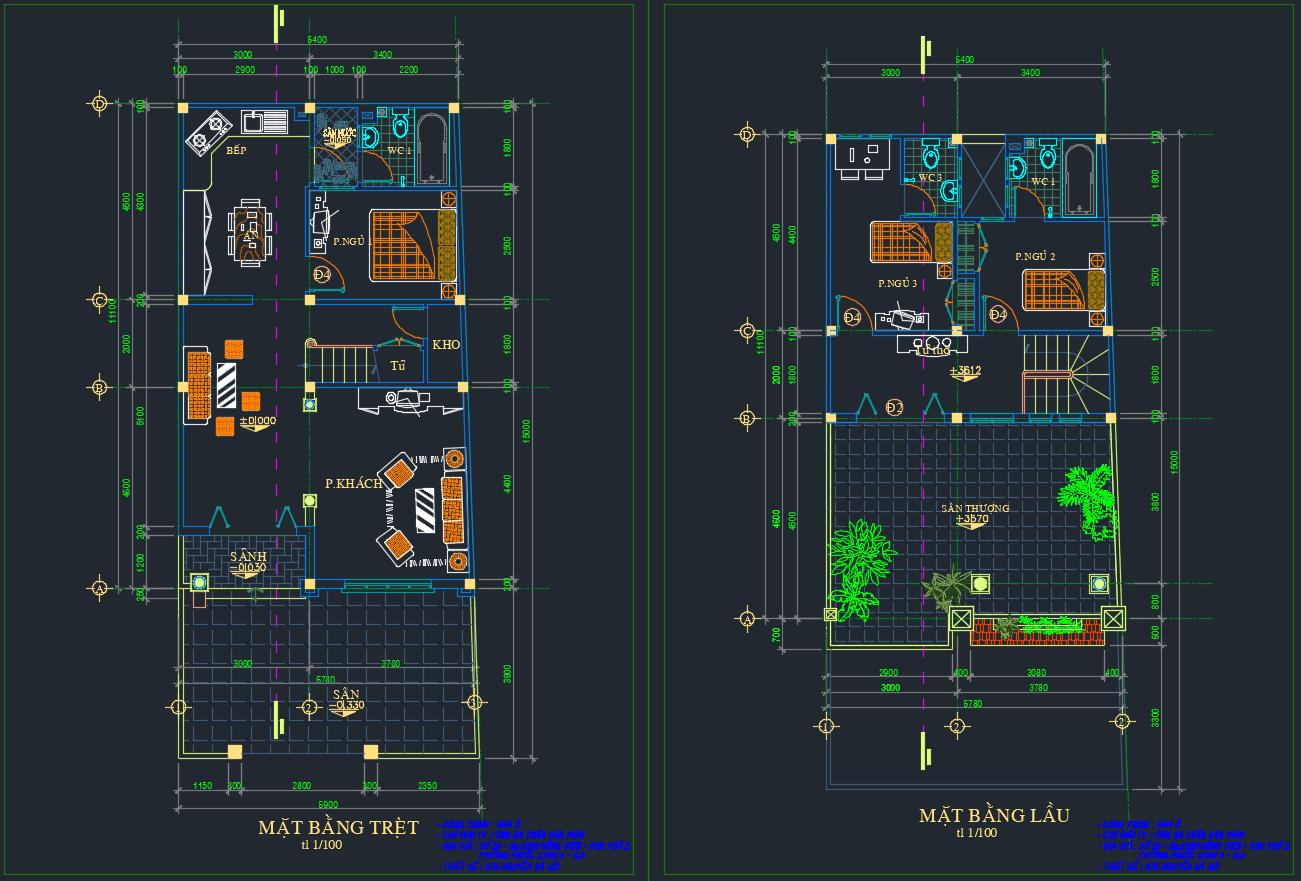 Mẫu biệt thự 2 tầng Full - Nhà A Thanh Chú thích 2020 04 20 225120