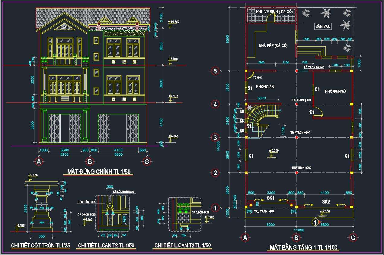 Hồ sơ thiết kế nhà ở gia đình