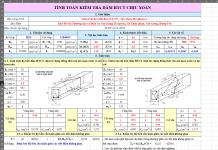 File excel kiểm tra dầm BTCT chịu xoắn TCvn 5574-2018