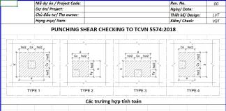 Bảng tính chọc thủng sàn theo TCVN 5574:2018