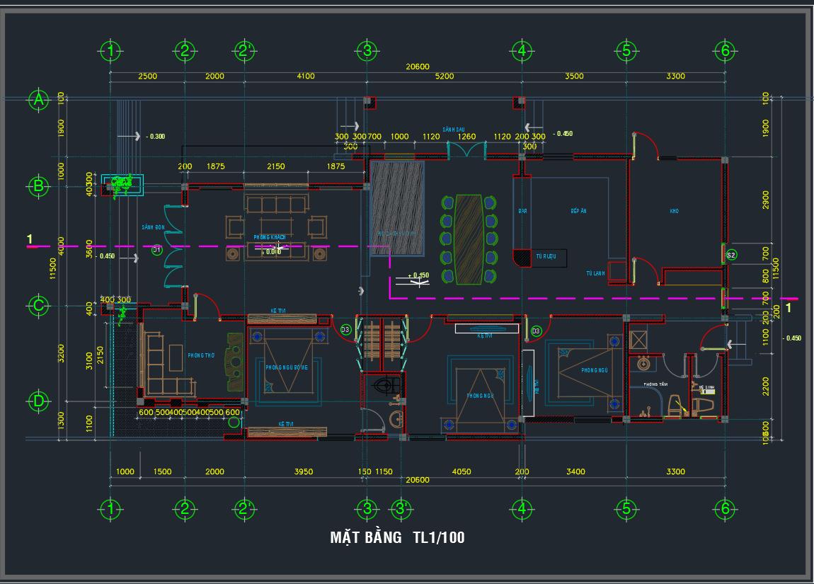 Mẫu thiết kế nhà cấp 4 full Mẫu thiết kế nhà cấp 4 full1