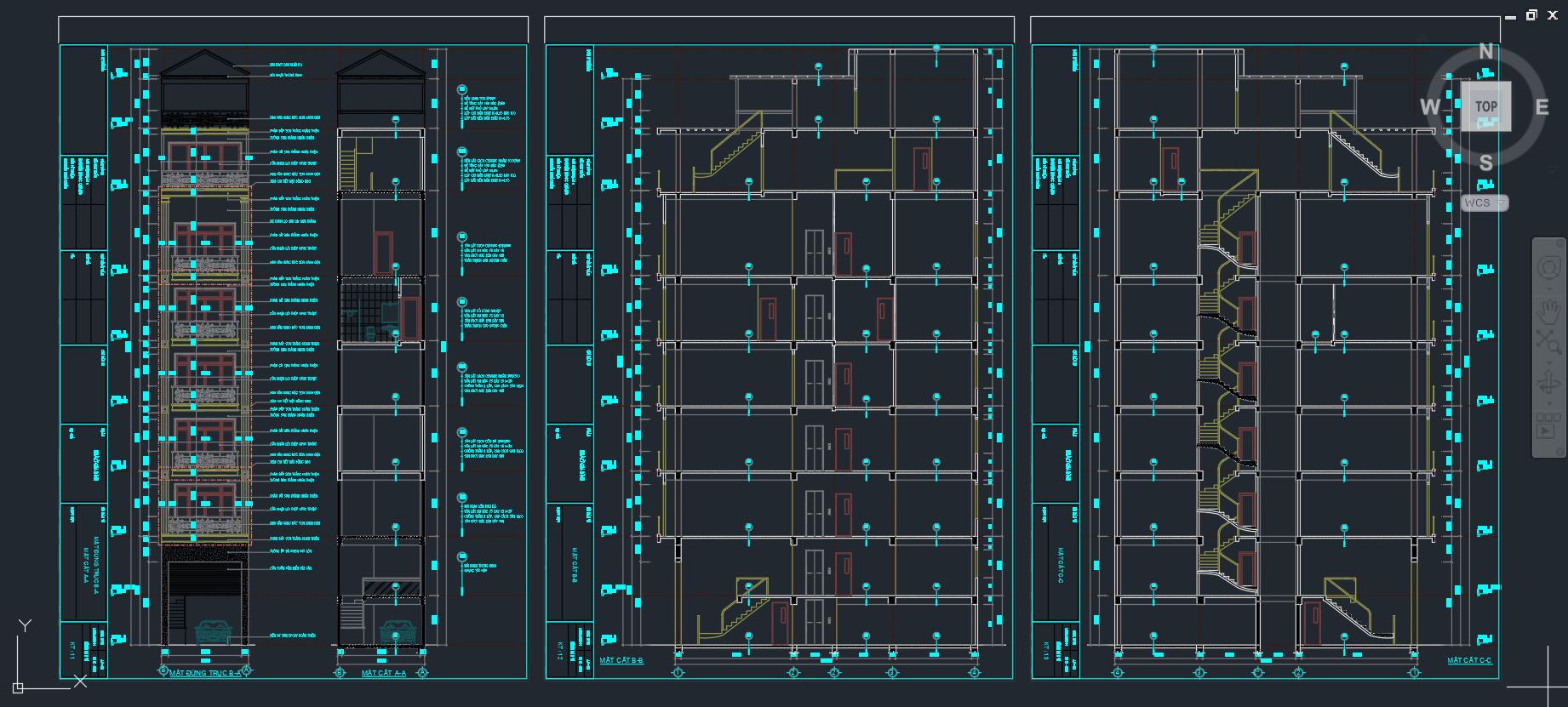 Mẫu thiết kế nhà phố 8 tầng