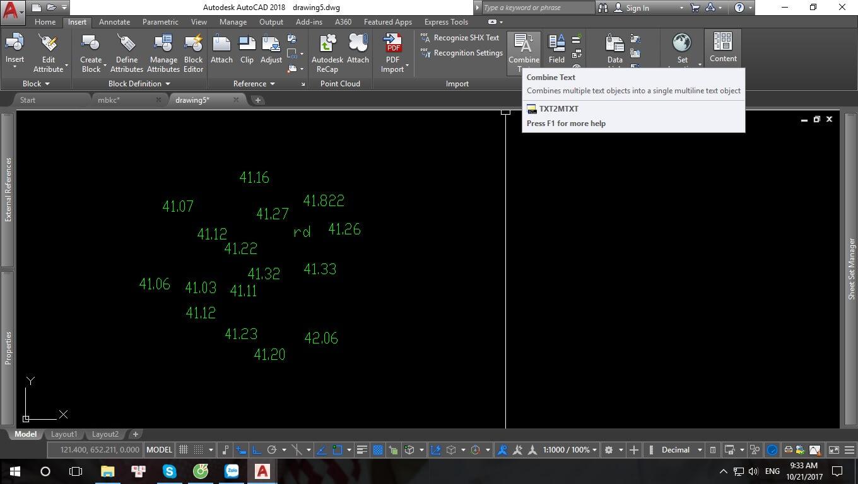 Chuyển nhiều DText thành một MText từ AutoCad 2018